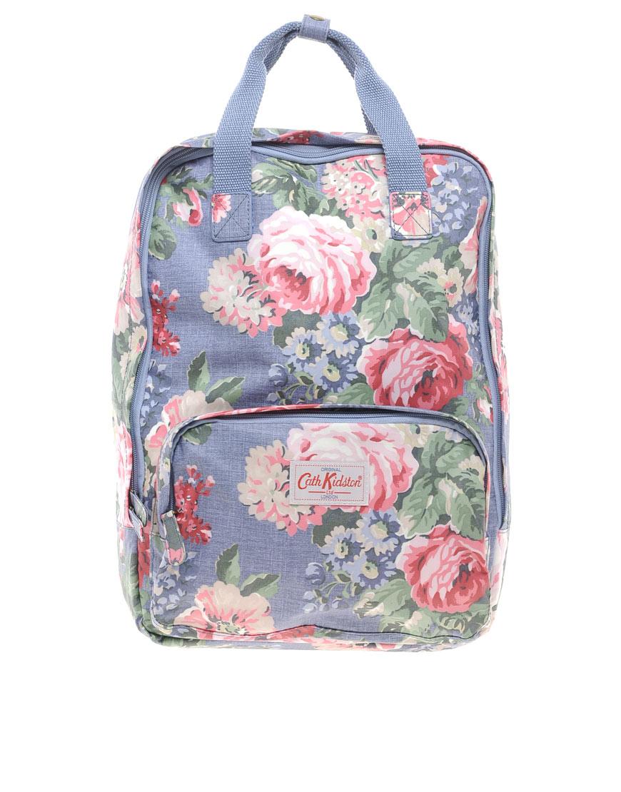 lyst cath kidston floral backpack in purple. Black Bedroom Furniture Sets. Home Design Ideas