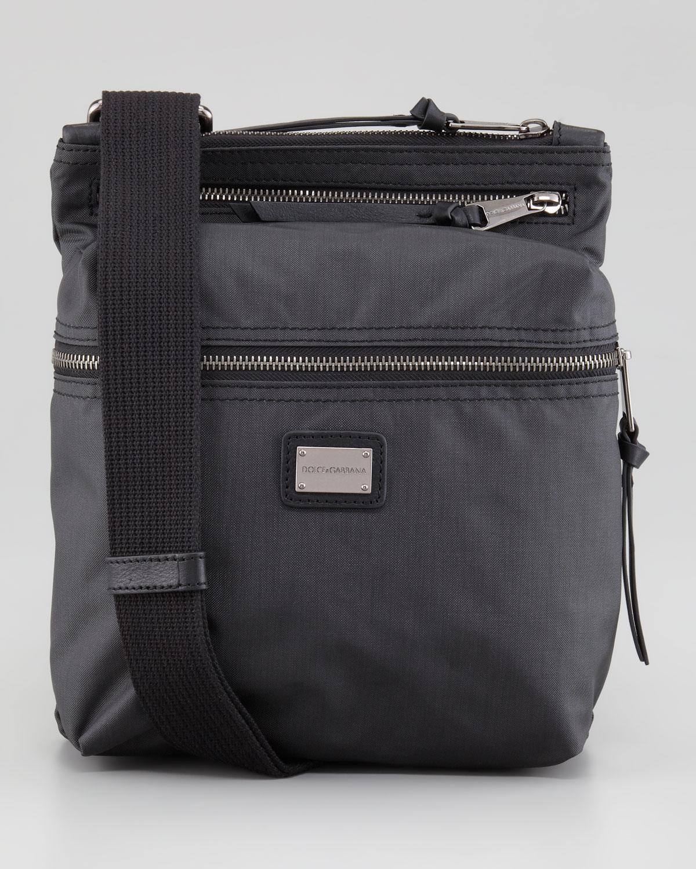 Lyst - Dolce   Gabbana Nylon Ziptop Messenger Bag in Gray for Men f11fa892d3