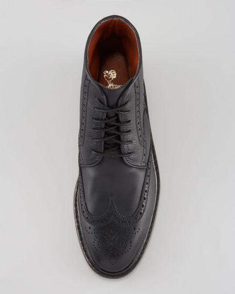 florsheim by duckie brown brokenin brogue boot in black