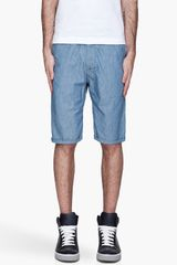 G-star Raw Pale Blue Bronson Chino Shorts - Lyst