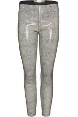Helmut Lang Bax Leather Leggings - Lyst