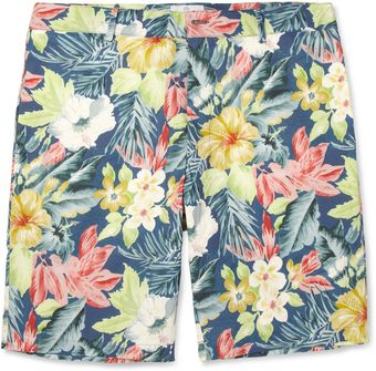 Hentsch Man Hawaiianprint Cotton Shorts - Lyst