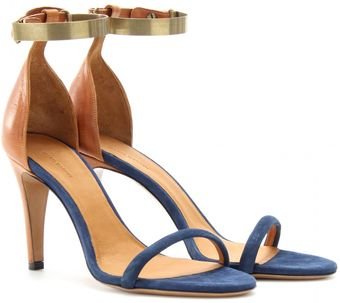 Isabel Marant Adele Leather and Suede Sandals - Lyst