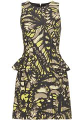 McQ by Alexander McQueen Grosgrain Print Peplum Dress - Lyst