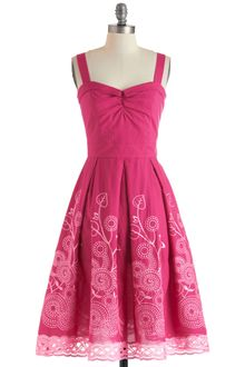 ModCloth Berry Good Gardener Dress - Lyst