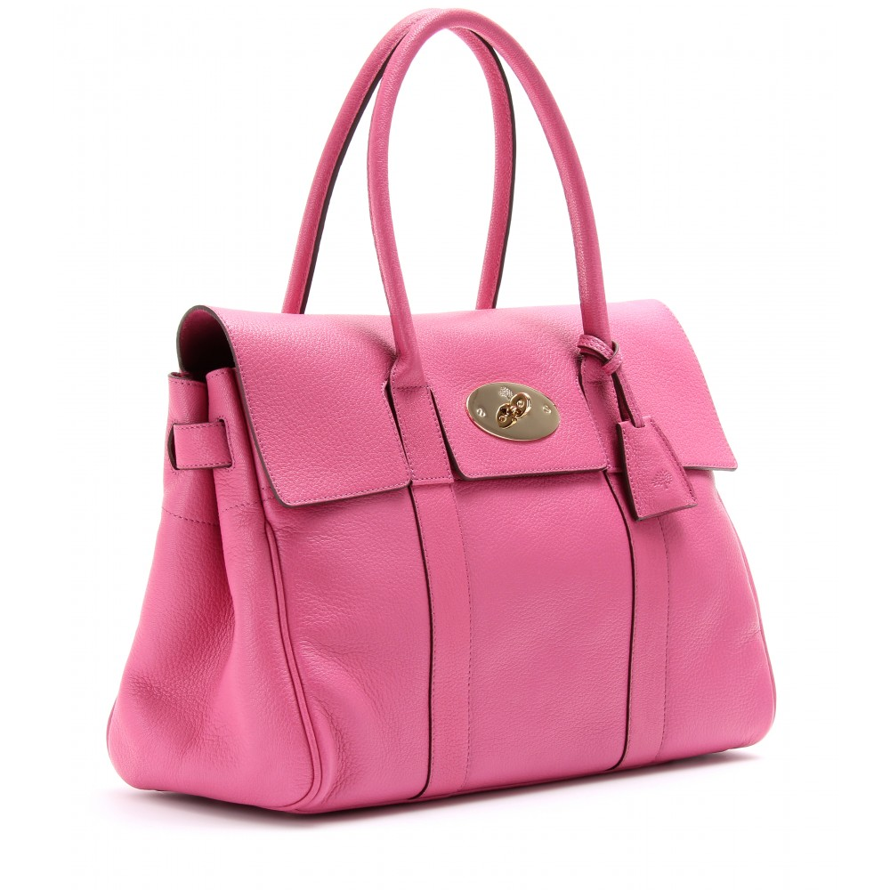 e40e32a4da Mulberry Bayswater Glossy Leather Tote in Pink - Lyst