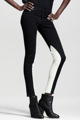 Rag & Bone Jodhpur Leather-panel Skinny Jeans - Lyst