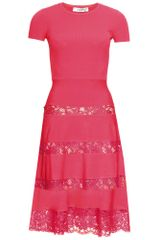 Valentino Chantilly Lace Trimmed Dress - Lyst