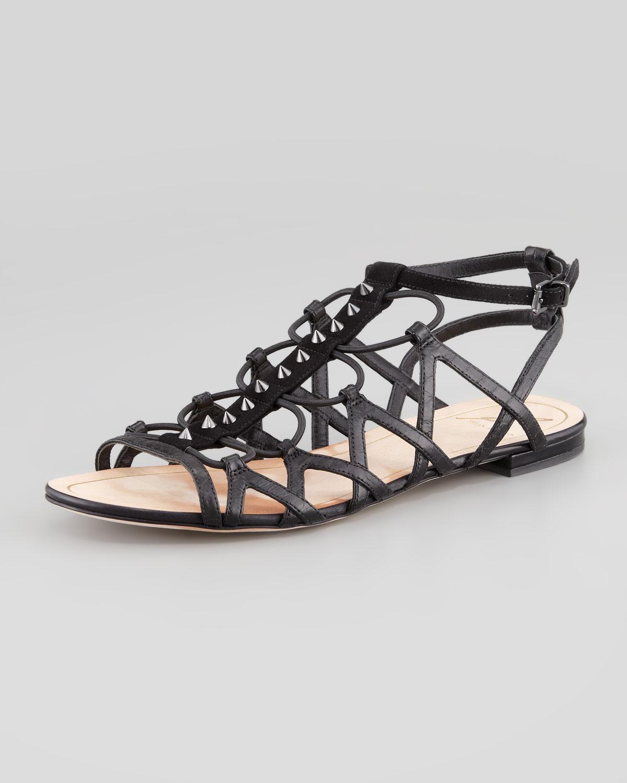 Black sandals flat - Gallery