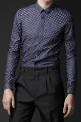 Burberry Prorsum Slim Fit Geometric Print Shirt - Lyst