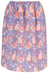 Carven Printed Skirt - Lyst