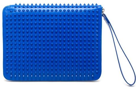 Christian Louboutin Cris Studded Leather Ipad Case in Blue - Lyst