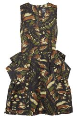 McQ by Alexander McQueen Butterfly Camouflage Printed Cottonblend Twill Dress