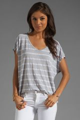 Michael Stars Short Sleeve Scoop Neck Striped Tee - Lyst