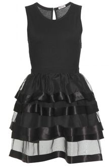 Miu Miu Cotton and Silk Tiered Dress - Lyst