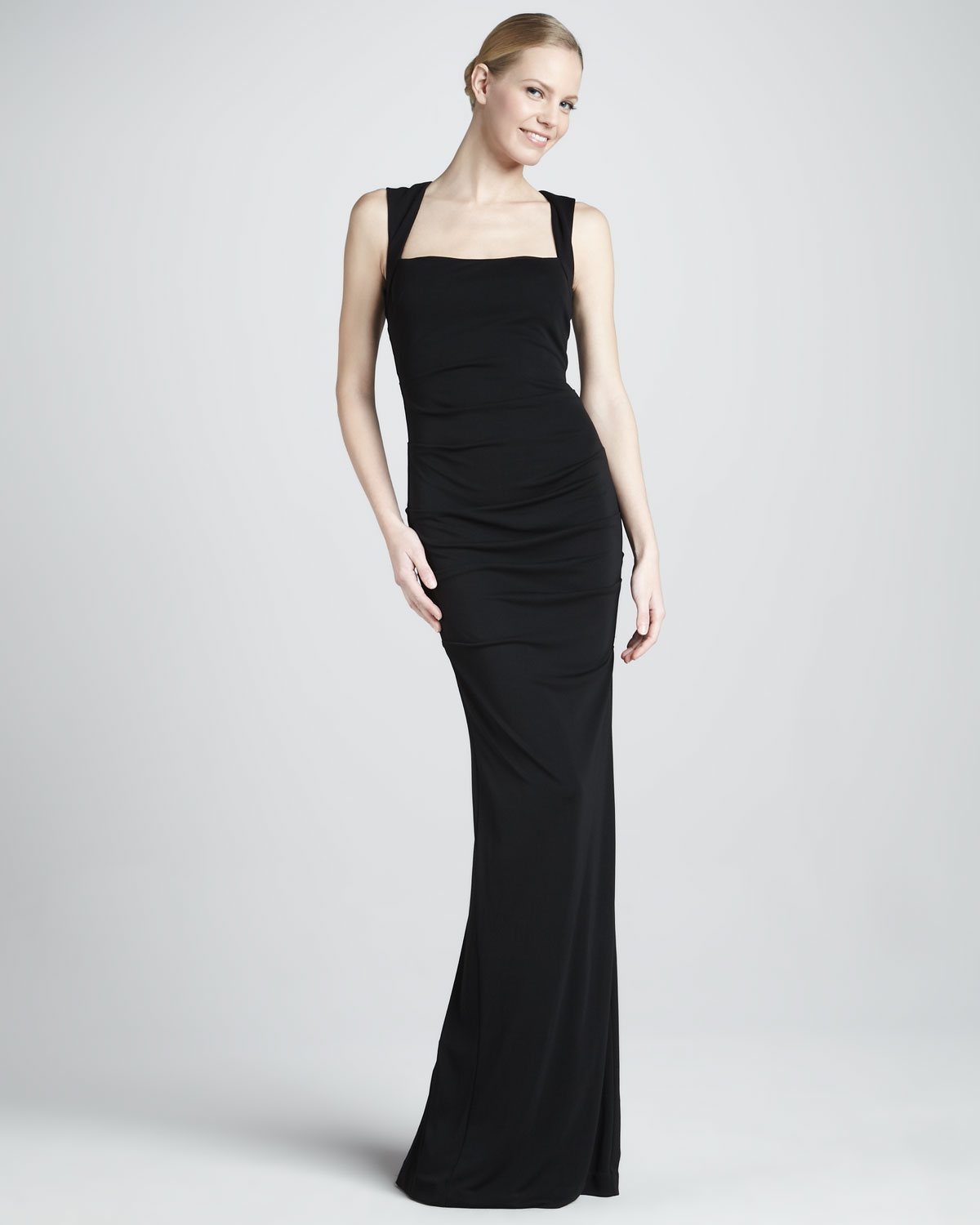 Lyst - Nicole Miller Sleeveless Stretch-Jersey Gown in Black
