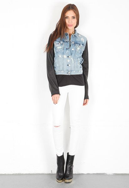 Rag & Bone Jacket  in Blue (tattered) - Lyst