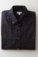 Steven Alan Classic Collegiate Shirt in Red for Men (dark navy/rust flower) - Lyst