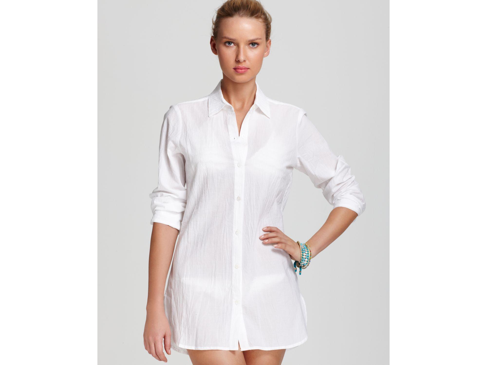 Lyst Tommy Bahama Boyfriend Shirt Crinkle Cotton Lawn In White