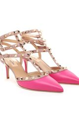 Valentino Studded Leather Kitten Heels