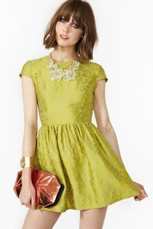 Nasty Gal Brocade Dress - Lyst