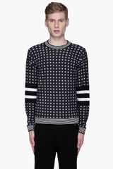 3.1 Phillip Lim Black and White Merino Wool Sweater