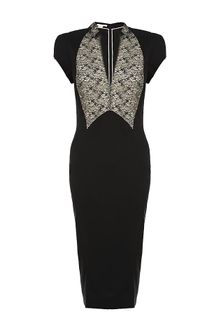 Antonio Berardi Lace Panel Dress - Lyst