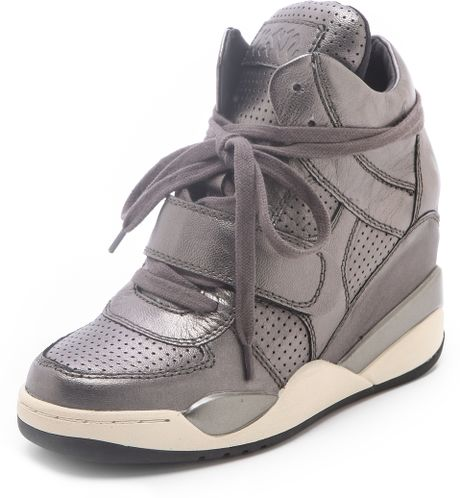 ash funky wedge sneakers in gray lyst