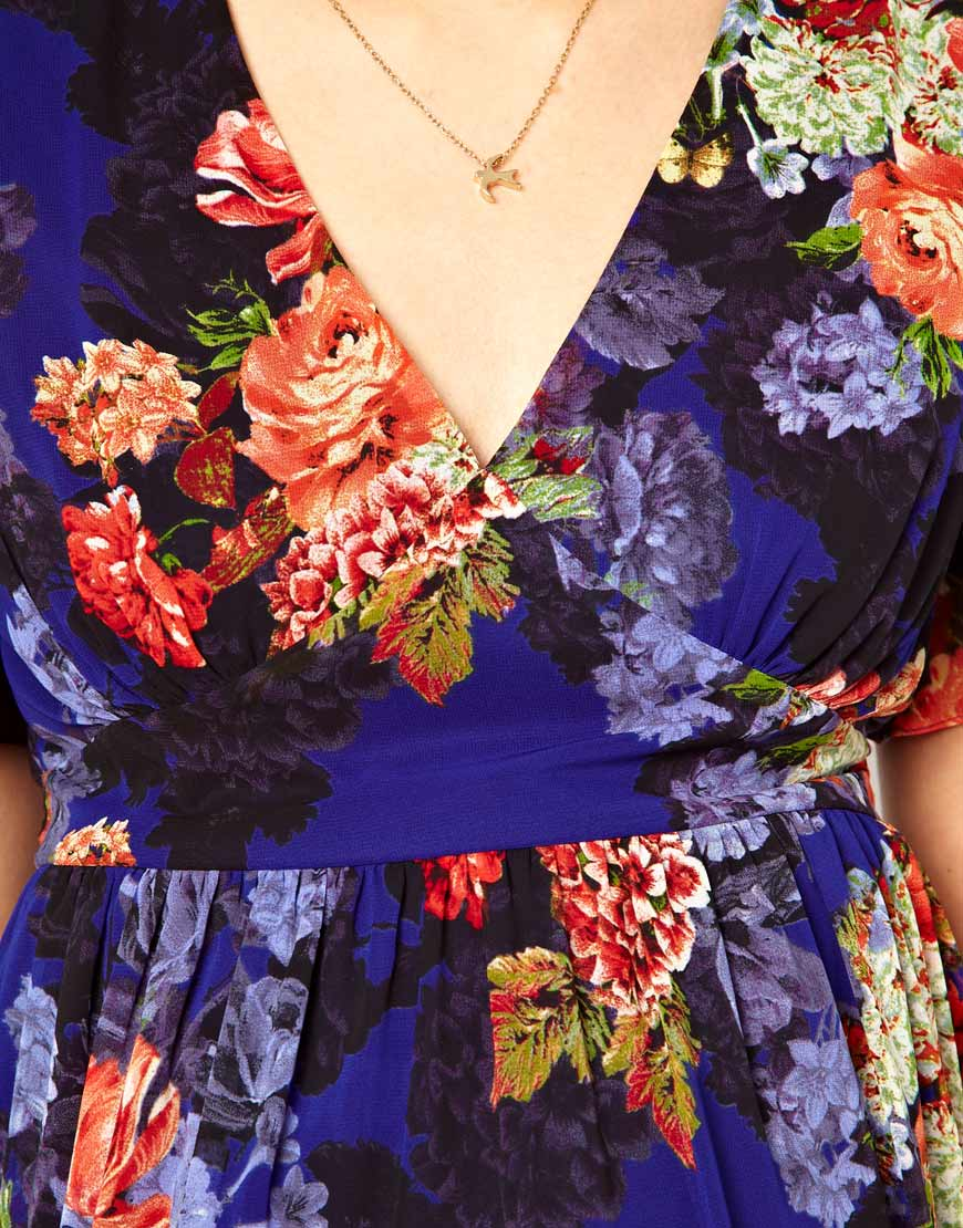 Vintage Floral Print Asos Maternity Maxi Dress In Vintage Floral Print Lyst