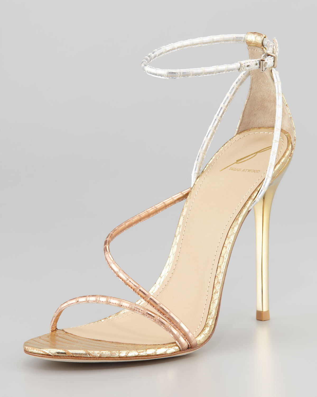 B Brian Atwood Metallic Iridescent Sandals clearance lowest price discount cheap online clearance high quality outlet 100% original websites sale online btqwmqBI
