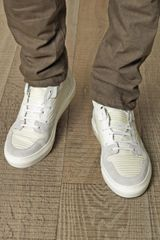 Balenciaga Ribbedleather Hightop Trainers in White for Men (ivory) - Lyst