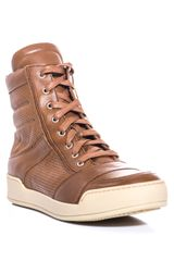 Balmain Perforated Leather High-top Trainers - Lyst