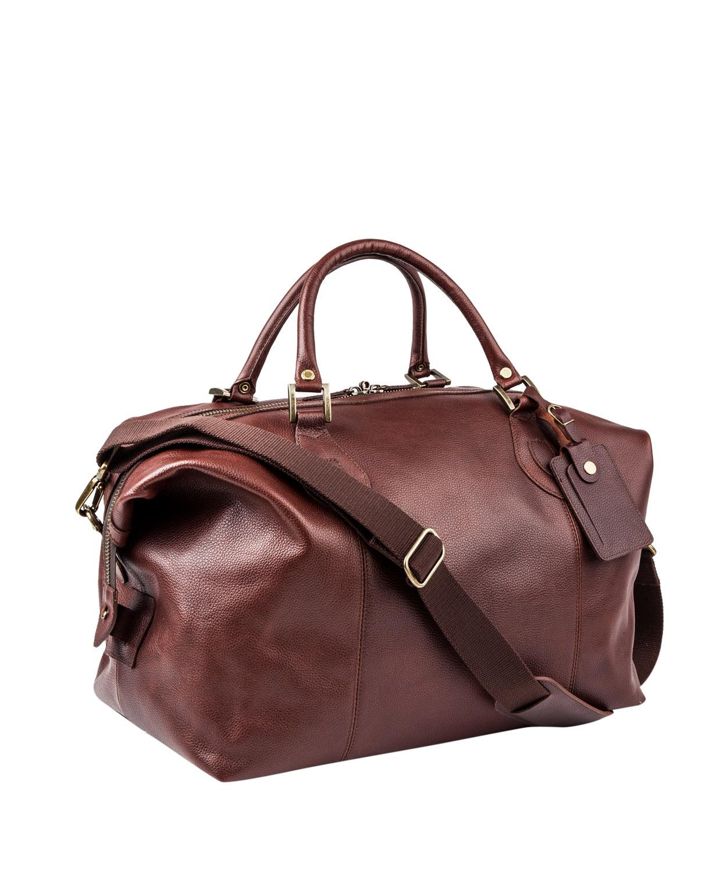 Barbour Leather Explorer Travel Bag in Brown for Men | Lyst