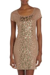 BCBGMAXAZRIA Sequinleopard Cocktail Dress - Lyst