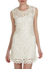 BCBGMAXAZRIA Beti Lace Crochet Shift Dress - Lyst