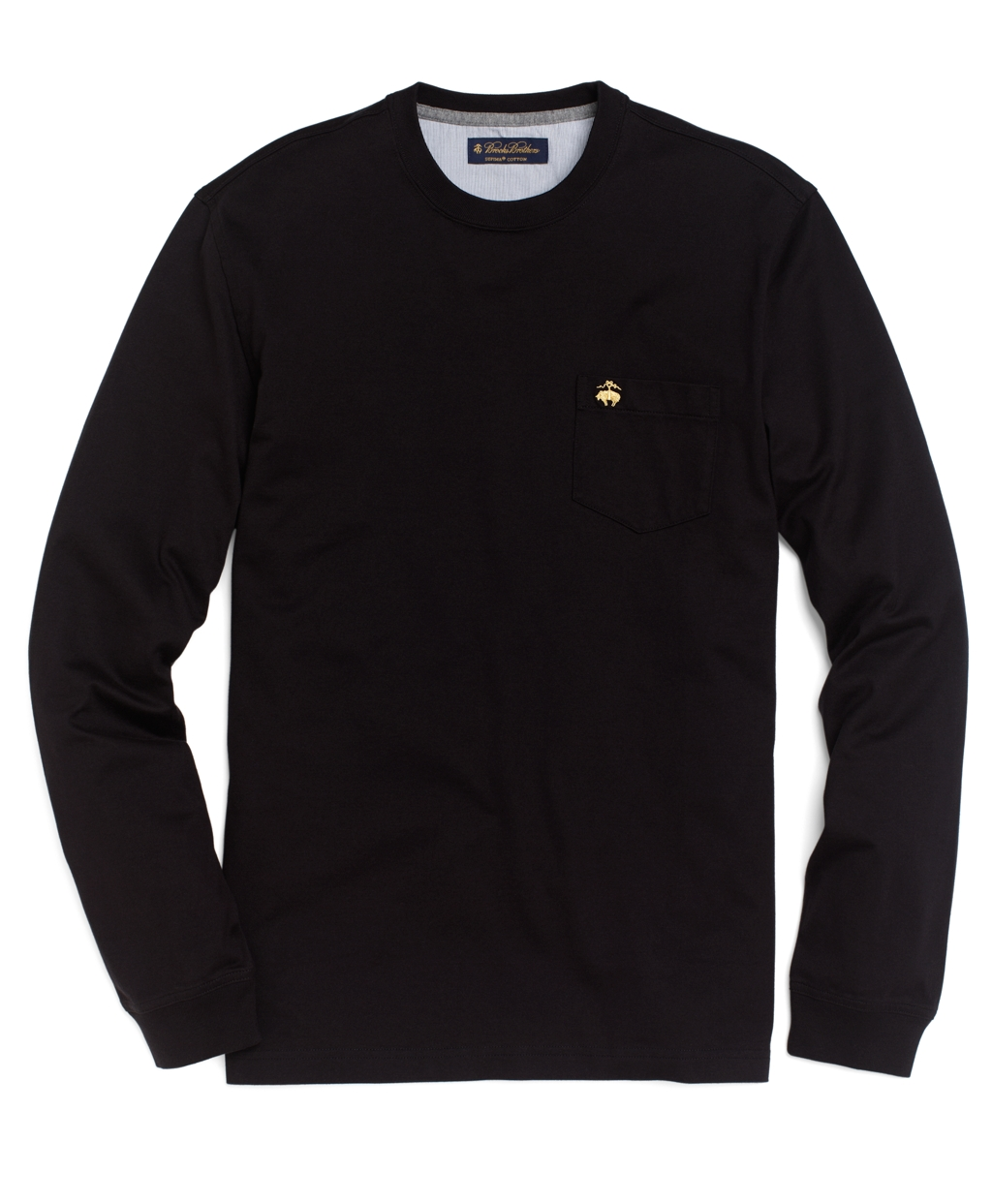 brooks brothers longsleeve golden fleece pocket tee shirt