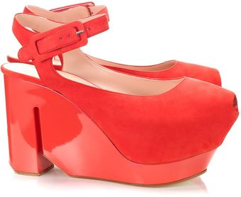 Calvin Klein Leather Wedges - Lyst