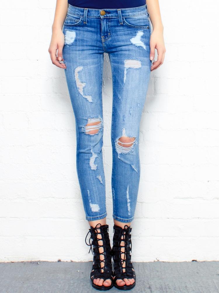 Blue Skinny Ripped Jeans Ye Jean