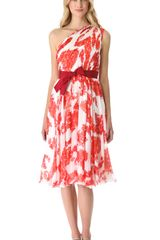 Giambattista Valli One Shoulder Floral Dress - Lyst