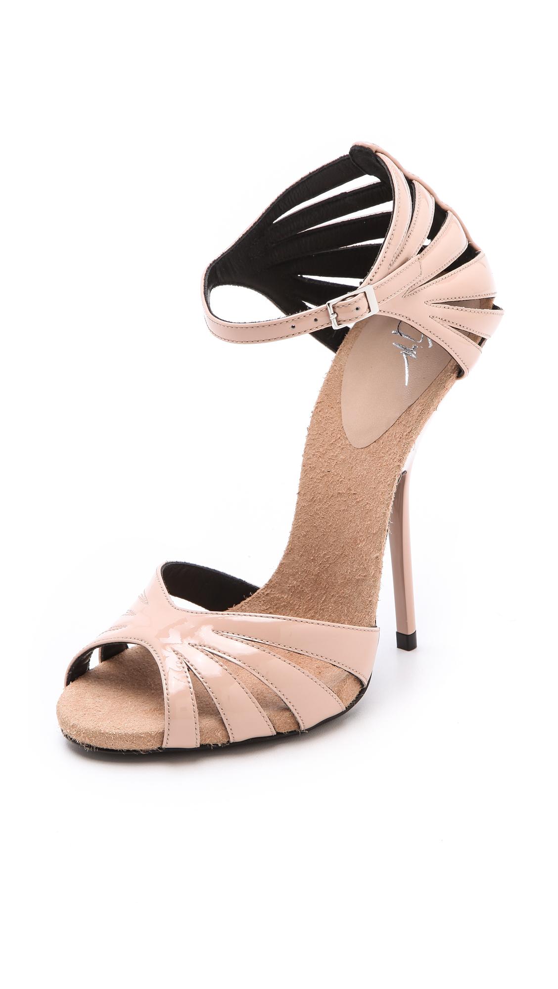 03cdd2d3ba83c6 Shoeniverse  GIUSEPPE ZANOTTI Pink Alien Patent Sandals
