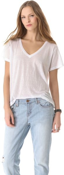 J Brand Ready-to-wear Janis V Neck Tee - Lyst