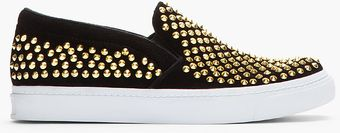Jeffrey Campbell Black Goldstudded Vin Man St Loafers - Lyst