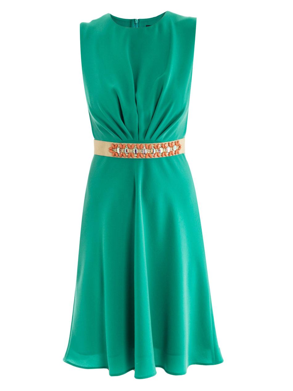 lyst max mara elegante grecia dress in green. Black Bedroom Furniture Sets. Home Design Ideas