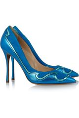 Nicholas Kirkwood Metallic Leather and Suede Pumps - Lyst