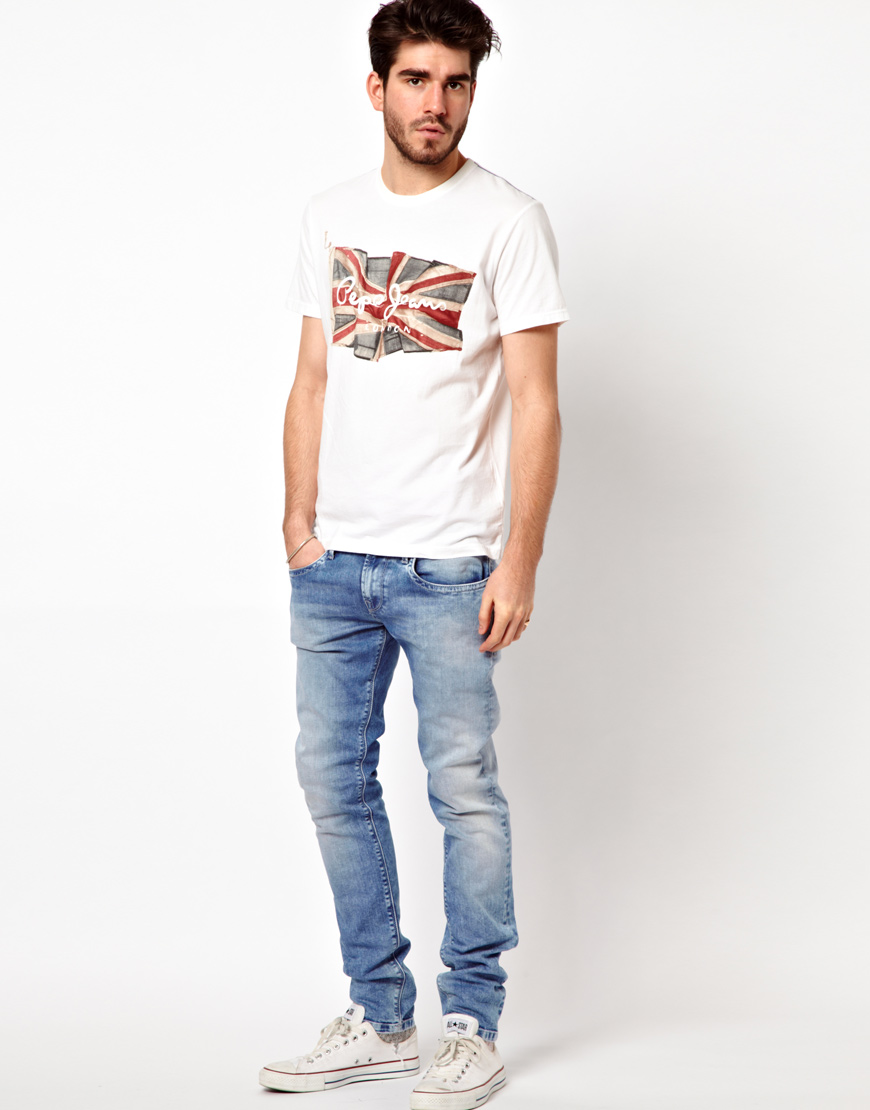c0d513acc67 Pepe Jeans T Shirts White