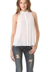 Splendid Shirting Sleeveless Button Down - Lyst