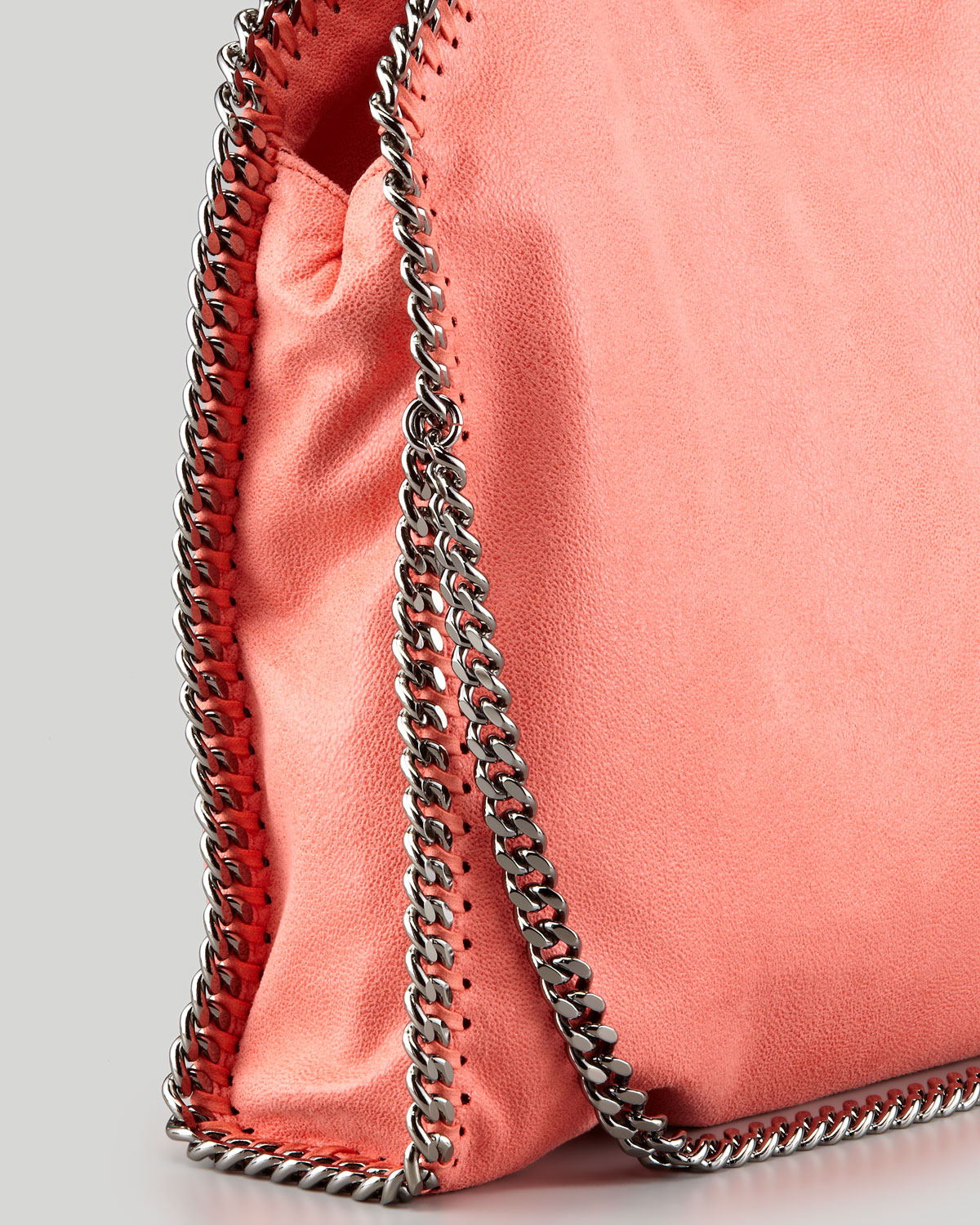 6bfd8eb4d7e1 Lyst - Stella McCartney Falabella Shaggy Deer Foldover Tote Bag in Pink