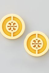 Tory Burch Deco Logo Stud Earrings - Lyst