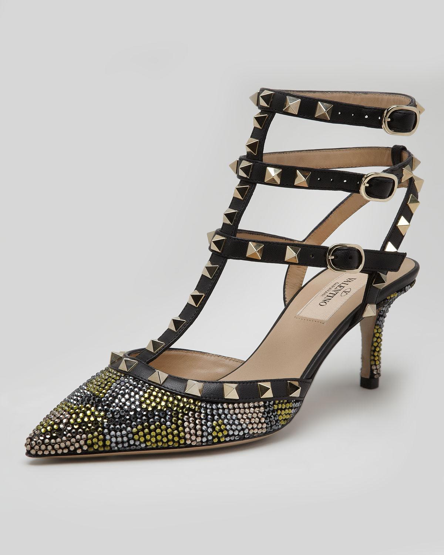 lyst valentino cash rocket leather rockstud stiletto pumps black in black. Black Bedroom Furniture Sets. Home Design Ideas