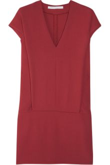 Victoria, Victoria Beckham Wool-Crepe Mini Dress - Lyst